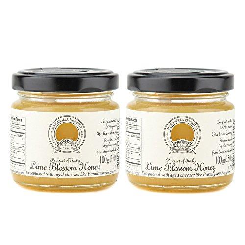 Mariangela Prunotto - Italian Lime Blossom Honey 3.5oz (100g) - Pack of 2 (Lime Honey)