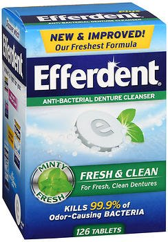 Efferdent Plus Mint Anti-Bacterial Denture Cleanser Tablets 126 ea (Pack of 4) by Efferdent (Image #1)