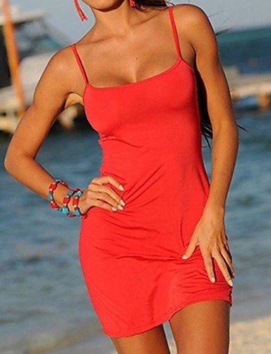 skt-swimwear Damen Straped zudecken, massiv Baumwollgemisch rot/gelb
