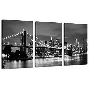 office wall art. sea charm modern wall artnew york cityscape brilliant black and white brooklyn bridge office art