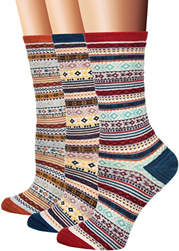 FloraFred-Womens-Vintage-Cotton-Crew-Socks-3-Pairs-Pack