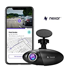 Nexar Halocam Dash Cam for your car, The Nexar-powered dash cam is compact, comes with a 32GB SD card, and automatically quick starts and powers off so you'll never need to think about it. If you are in a crash, get the Nexar 1-Click Report w...