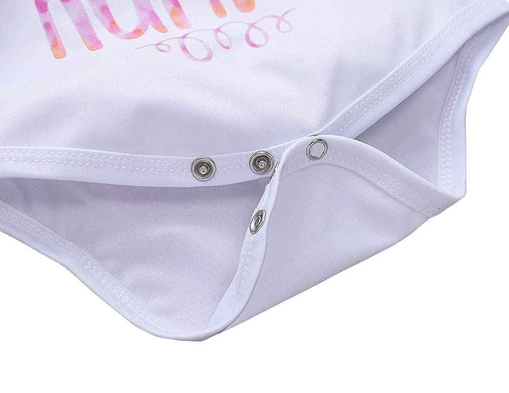 COLOOM Newborn Infants Baby Girls Long Sleeve Romper Bodysuit Playsuit Leggings Bow-Knot Headband Outfits