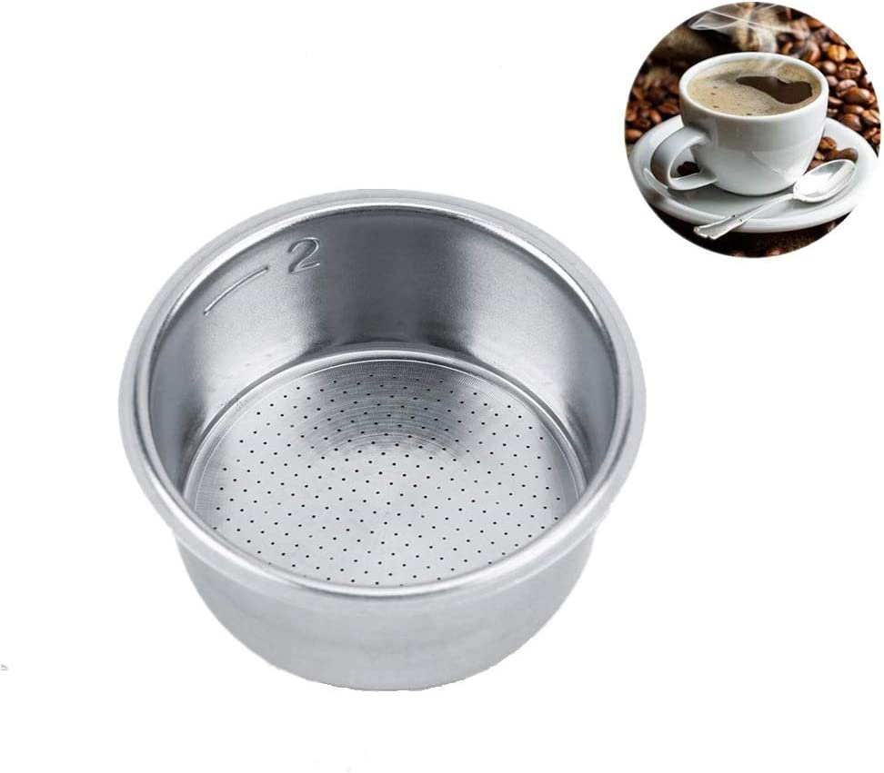 Coffee Tea Filter,Durable High Quality Stainless Steel Convenient Coffee Tea Filter Coffee Machine Filter Basket for Home