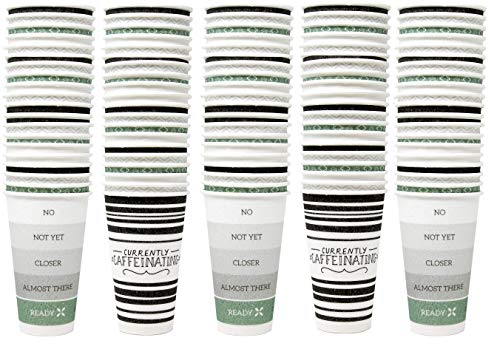 Dixie to-Go 16-Oz Disposable Hot-Cold Beverages Paper Cups, 120 Count (with Lids), Great for Coffee, Tea, and More