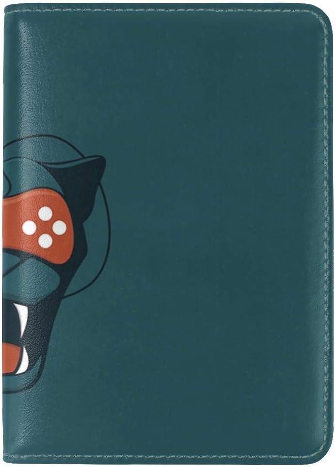 Puma Joystick Grin Leather Passport Holder Cover Case Travel One Pocket