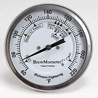 Blichmann BrewMometer 3 inch Weldless Dial Thermometer for Brewing