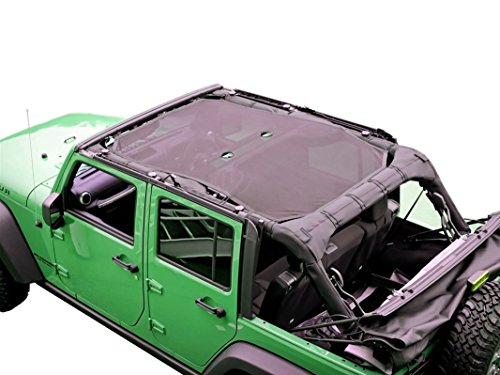 Price comparison product image Jackey Awesome Mesh Bikini Top Cover Provides UV Protection for JK Sahara Sport Rubicon X & Unlimited 2007-2016 (Large)