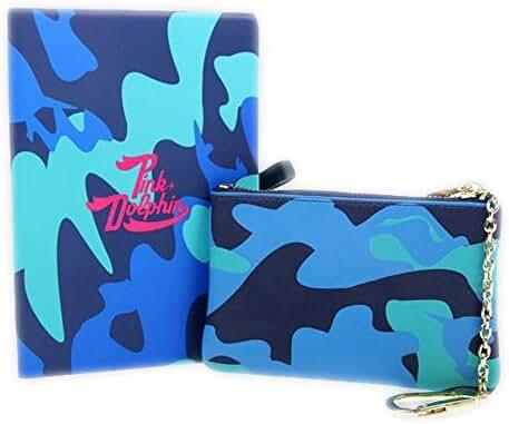 Pink Dolphin Ocean Camo Coin Pouch