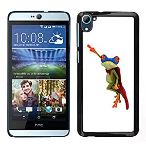 Impact Case Cover with Art Pattern Designs FOR HTC Desire D826 Frog Flying Hero White Minimalist Betty shop