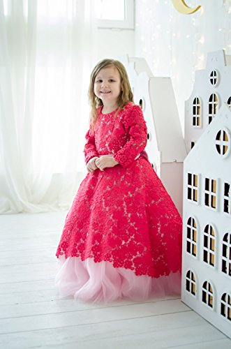 b25b9f67de Mommy and Me Crimson lace dresses, Mother daughter matching Dresses  Outfits, Raspberry red tutu dress, birthday dresses Wedding dress