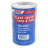 A&R Sports Hockey Tape, Clear, 6-Pack