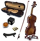 SKY 4/4 Full Size Antique Style Professional Handmade VN404 Violin Kit w Case Bow Rosin Mute