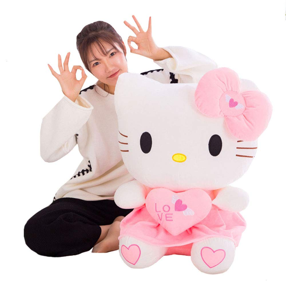 XQYPYL Hello Kitty Lindo Juguete de Peluche Suave Almohada Mu/ñecas Ni/ños Ni/ña D/ía de San Valent/ín Cumplea/ños Regalos Decoraci/ón Hogar 30cm-70cm,Rosado,30cm
