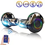 Hoverboard Self Balancing Scooter 6.5'' Two-Wheel Self Balancing Hoverboard with Bluetooth Speaker and LED Lights Electric Scooter for Adult Kids Gift UL 2272 Certified Fun Edition - Desert Camo