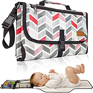 Portable Diaper Changing Pad, Portable Changing pad for Newborn boy & girl- Baby Changing Pad – Waterproof Travel Changing Station kit - Baby Gift by Soultisfy