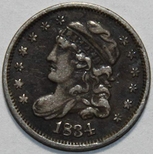 - 1834 Capped Bust Half Dime VF20