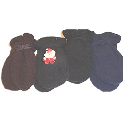 dbe2494e708 Four Pairs of Multicolor Finest Mongolian Fleece Mittens for Ages 3-12  Months