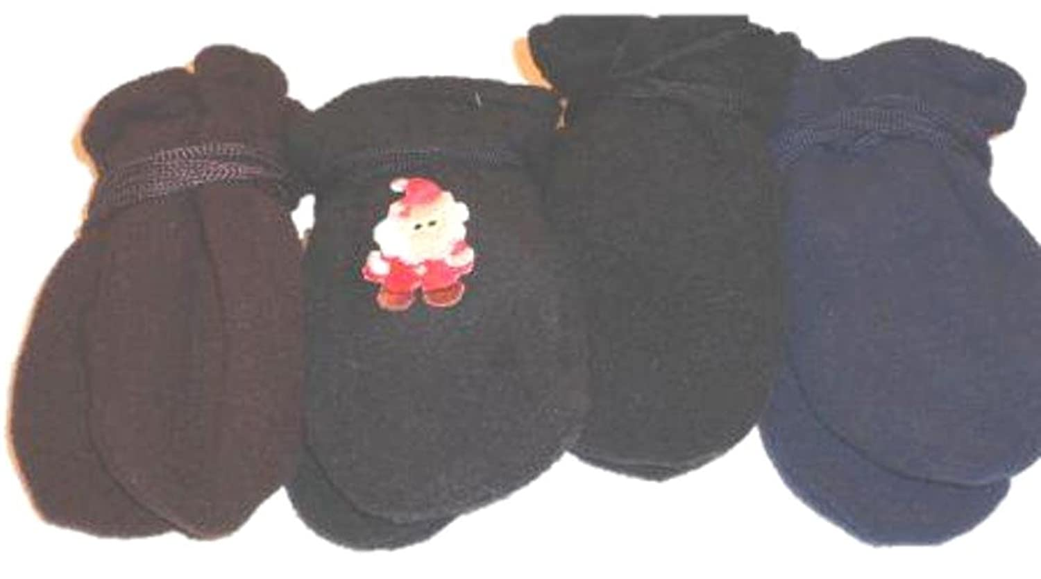 top Four Pairs of Multicolor Finest Mongolian Fleece Mittens for Ages 3-12 Months save more