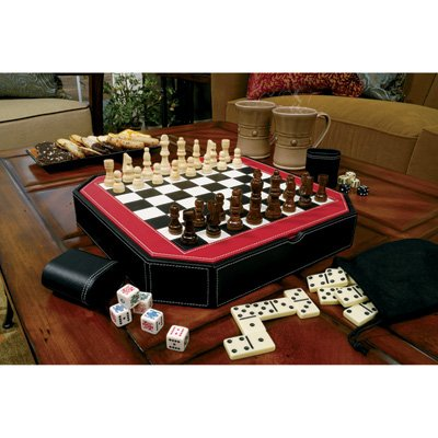 Mainstreet Classics Octagon 5-in-1 Combo Board Game Set ()