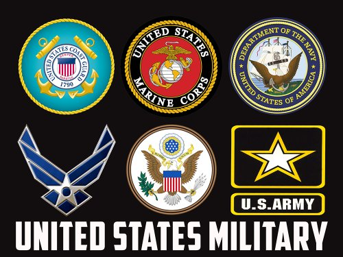 US Military Branches Poster US Military Military Army Navy Air Force Marines Coast Guard Military3