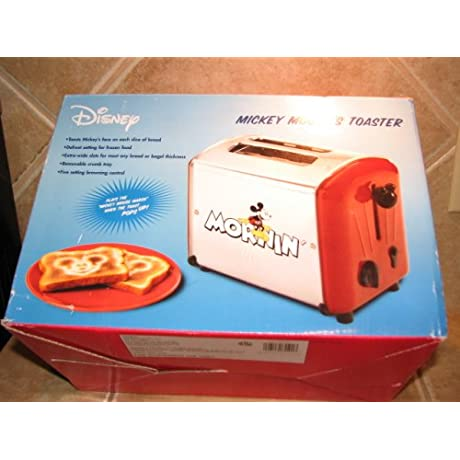 Rare Red MICKEY MOUSE Musical Toaster By VillaWare 5555 11 R
