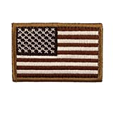 Tactical USA Flag Patch-Brown By Seibertron