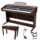 Sawtooth 88-Key Digital Console Piano with Weighted Keys and Accessories