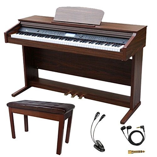 Sawtooth 88-Key Digital Console Piano with Weighted Keys and Accessories by Rise by Sawtooth