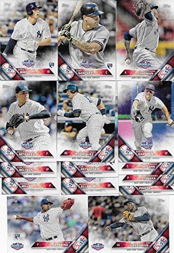 Photo New York Yankees 2016 Topps OPENING DAY Series Complete Mint Hand Collated 15 Card Team Set Featuring Gary Sanchez and Luis Severino Rookie Cards Plus Alex Rodriguez and Others