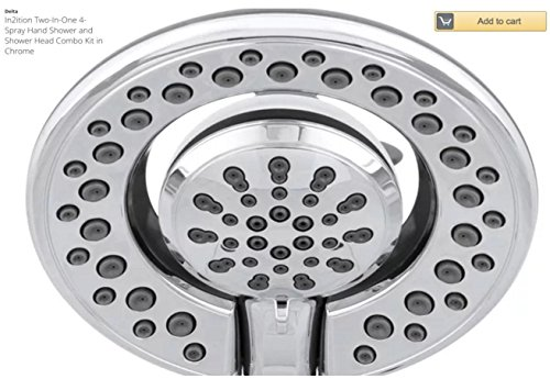 Polished Chrome Combo - In2ition Two-In-One 4-Spray Hand Shower and Shower Head Combo Kit in Chrome (Polished Chrome)