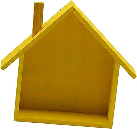 Fenteer Mur Etagere De Rangement En Bois Forme De La Maison