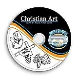 Christian-Religious-Jesus Clipart-Vector Clip Art-Vinyl Cutter Plotter Images-T-Shirt Graphics CD