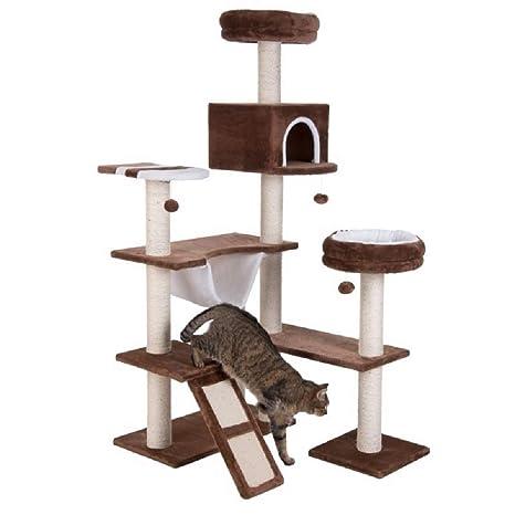 PaylesswithSS Gingerbread House - Árbol para Gatos con Escalera