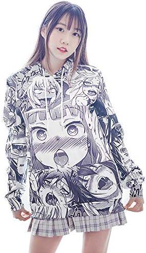 アヘ顔 パーカー ユニセックス アノラック ahegao hoodie コスプレ 上衣 衣装 男女兼用 個性的 パロディ アニメ hiphop グラフィック 男女兼用 贈り物