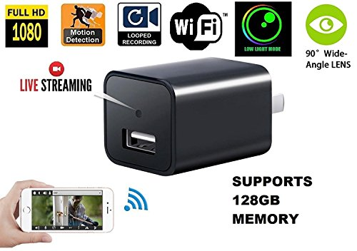 1080P Wifi Charger Hidden Spy Camera – DENT Products HD P2P Wireless Wifi Video Camcorder with Motion Detection, USB AC Wall Plug Adapter for IOS iPhone Android APP Remote View, - Sunglasses Instructions Video