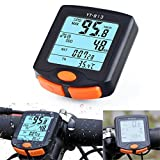 YOUNGFLY Bicycle Speedometer Odometer Temperature Display(Fahrenheit/Celsius) Wireless Data Transmission Waterproof Multi Function Bike Cycle Wired Computer with Digital LCD Display