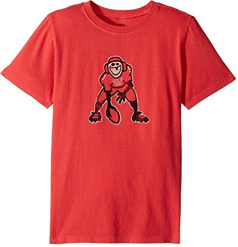 Life is good Boy's Tee Hut Hike T-Shirt, Americana Red, - Hut Good