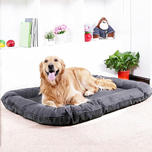 AikoPets Dog cushion Pet Bolster Bed Deluxe Orthopedic Chaise Couch for Cats and Dogs - Available in 2 sizes (XL:48'' x 34'' x 6'') by AikoPets
