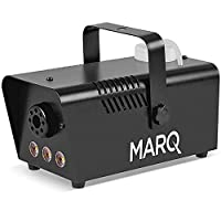 MARQ Fog 400 LED   400W Water-Based Special Effects Fog Machine with Amber-Color LED Lights (Black)