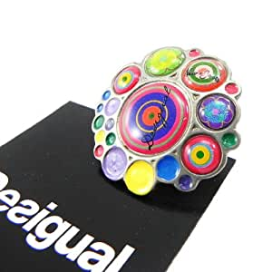"""'french touch' ring """"Desigual"""" multicoloured."""