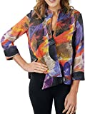 Joseph Ribkoff Multicoloured Knit Button Closure Coverup Jacket Style 171596 - Size 10