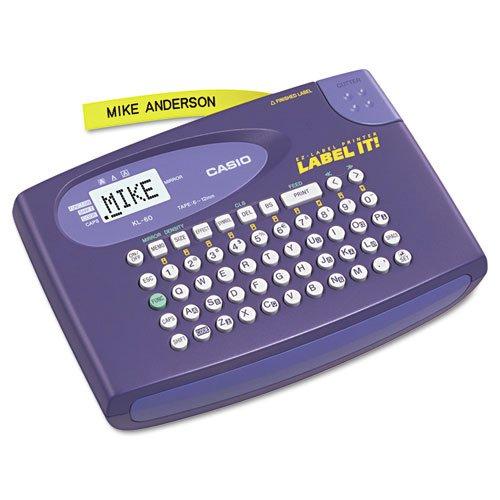 - KL-60L Label Maker, 2 Lines, 6-5/8w x 4-1/2d x 1-1/16h, Sold as 1 Each