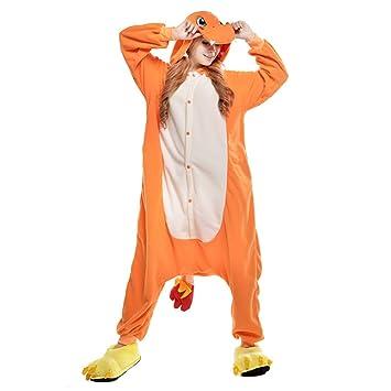JINZFJG Pijamas Siameses de Franela Dibujo Animado Hombre/Mujer Pijama Disfraz Cosplay, Dragón de