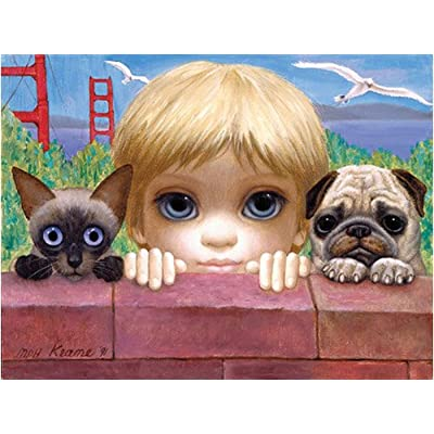 Margaret Keane San Francisco, here we come Jigsaw Puzzle 500pc: Toys & Games