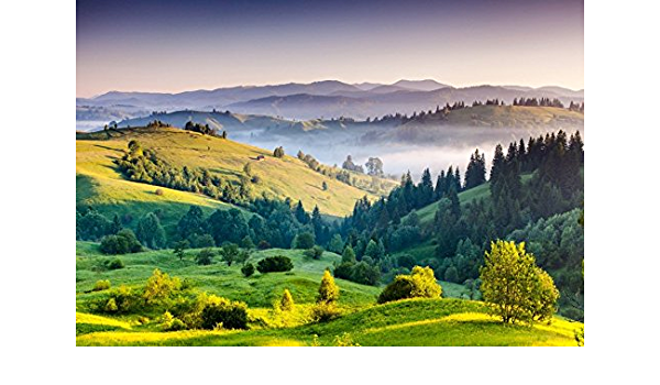 CdHBH 10x7ft Valley Scenic Photography Studio Backdrop Mountain Background Forest Tree Lake Outdoor Travel Nature Landscape Adult Artistic Portrait Photoshoot Props Video Drape Wallpaper