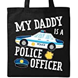 Inktastic - My Daddy is a Police Officer Tote Bag Black 2f98a