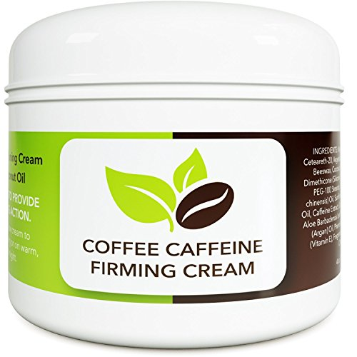 Coconut Cellulite Cream with Caffeine - Natural Stretch Mark Treatment - Best Body Firming and Tightening Cream - Anti Aging Moisturizer for Men and Women - UV Damage Wrinkle Repair (Best Toning Cream For Black Skin)
