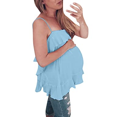 talla 40 c7122 dbff8 Camisetas de Tirantes Maternidad Verano Mujer, PAOLIAN Ropa ...