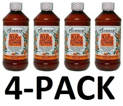 Agua De Azahar 8 Oz. Orange Flower-Blossom Water 4-PACK By (Skin Orange Blossom)